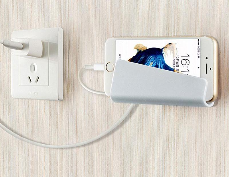 Universal Wall Mount Phone Charger Holder - Dudevillage