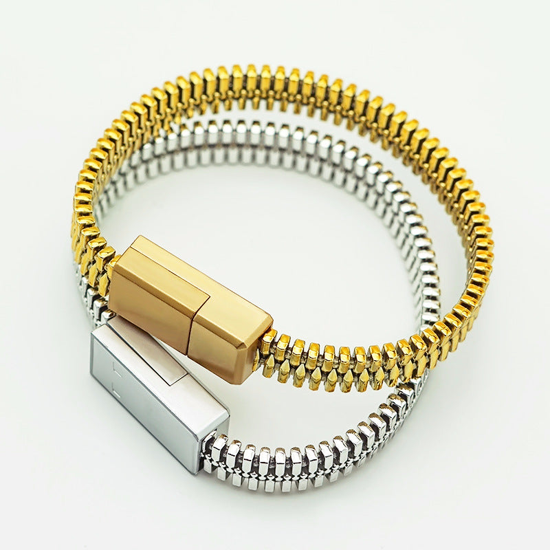 Zipper Bracelet - USB Cable - Dudevillage