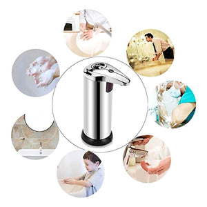 SOAP DISPENSER STAINLESS STEEL HANDS FREE LIQUID DISPENSER - Dudevillage