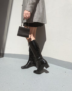 Patent Leather Croc Boots
