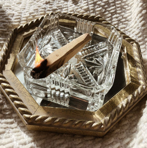 Square Glass Tray