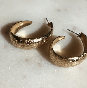 Printed Gold Hoops
