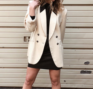 Cream and Black Blazer