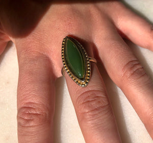 Green Enamel Ring