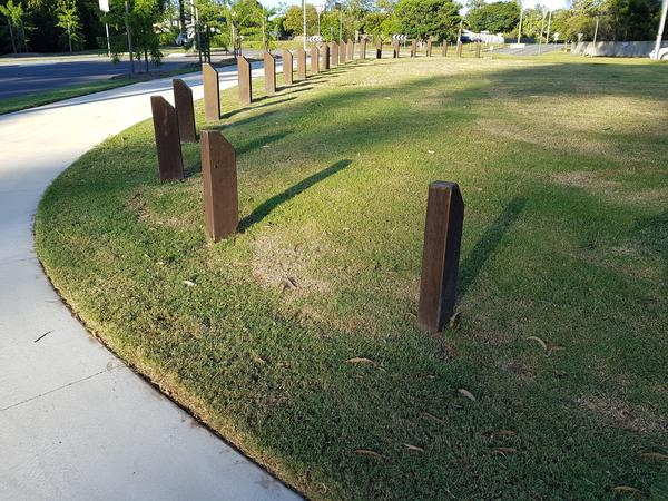 Angled Top Timber Bollards | Hardwood Timber Bollards
