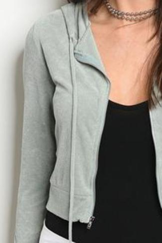Cropped Zip Up Hoodie Little Black Dog Boutique