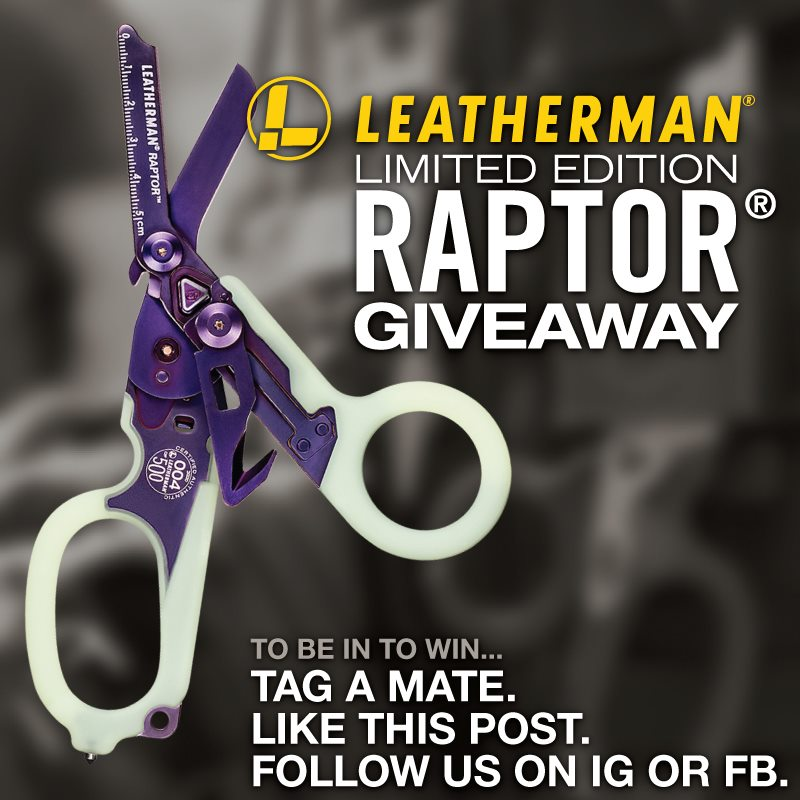 Giveaway! Win a Limited Edition Leatherman RAPTOR