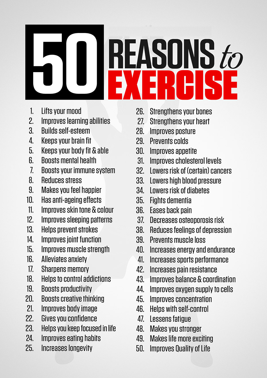 50 reasons to exercise tactical fitness australia