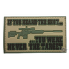 5ive Star Gear PVC Morale Patch Heard The Shot-Morale Patches-Tactical Gear Australia
