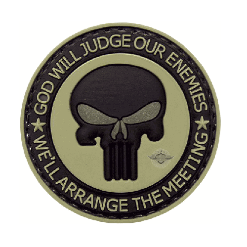 5ive Star Gear PVC Morale Patch Punisher Enemies-Morale Patches-Tactical Gear Australia