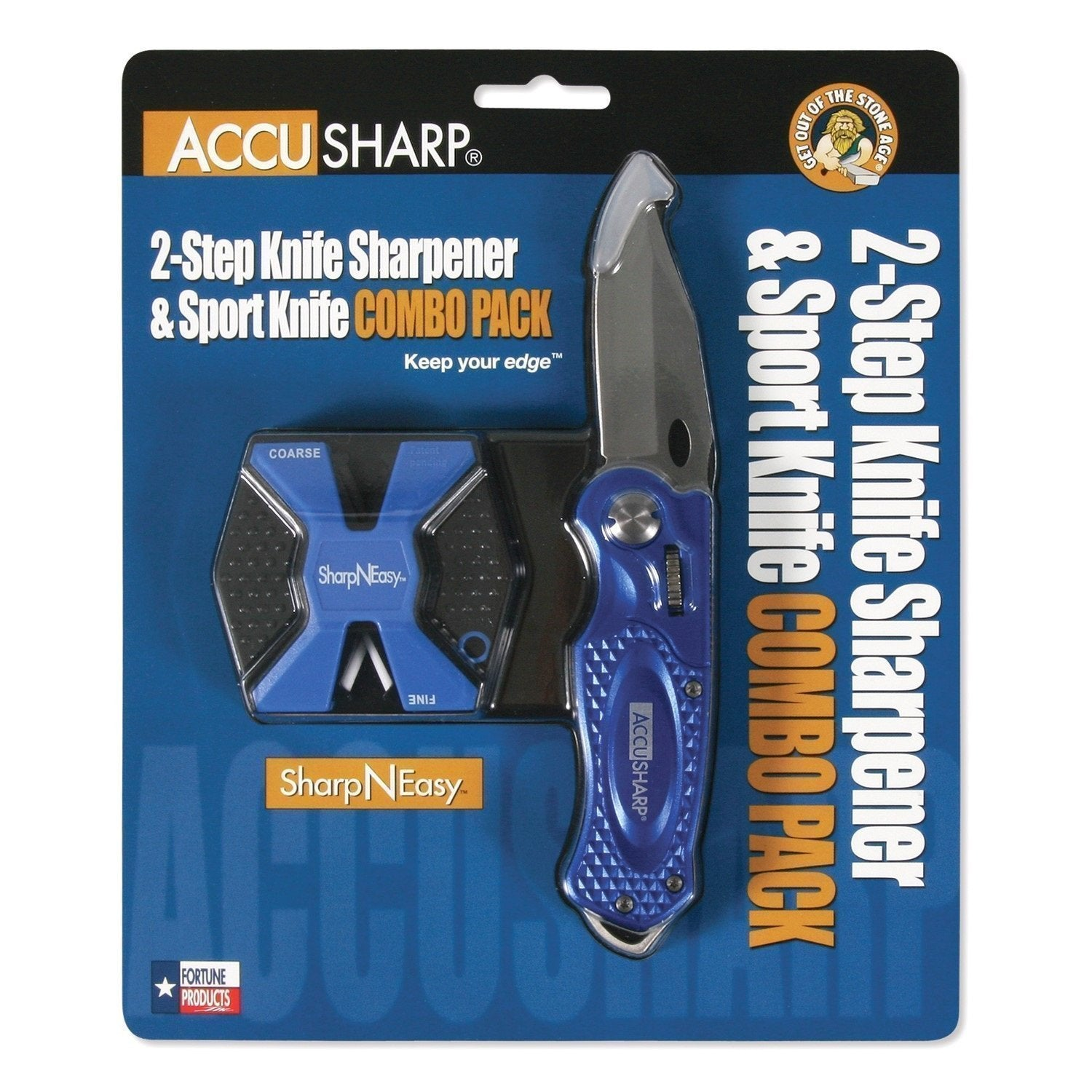 Accusharp SharpNEasy 2-Step Sharpener and Sport Knife - Blue-Sharpeners-Tactical Gear Australia