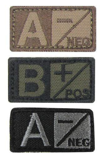 Condor Blood Type Patches-Morale Patches-Tactical Gear Australia