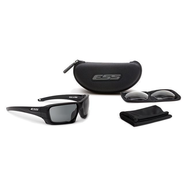 ESS Eyepro Rollbar Black Frame Smoke and Clear 2 Lens Kit-Eyewear-Tactical Gear Australia