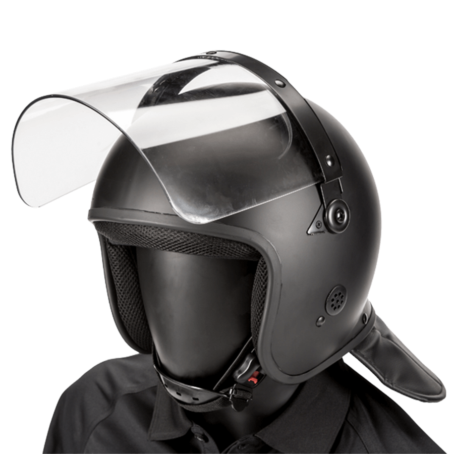 Haven Gear Defender Riot Helmet with Straight Visor Black Matte Tactical Gear Australia Supplier Distributor Dealer