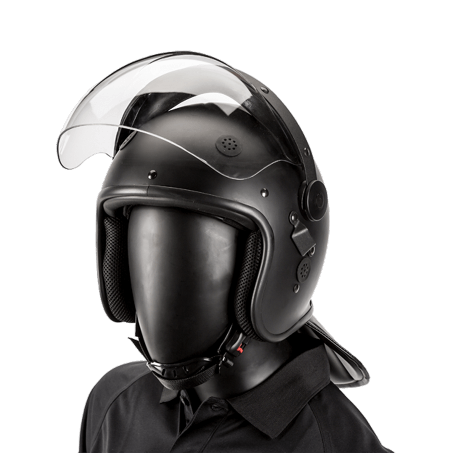Haven Gear Riot Helmet with Bubble Visor Black Matte Tactical Gear Australia Supplier Distributor Dealer