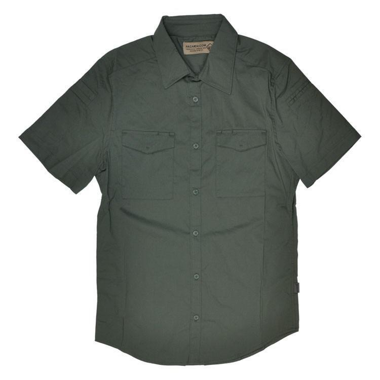 Hazard 4 Civilian Lab Mechanic Collar Stretch Work Short Sleeve Shirt Ranger Green-Clothing and Apparel-Tactical Gear Australia