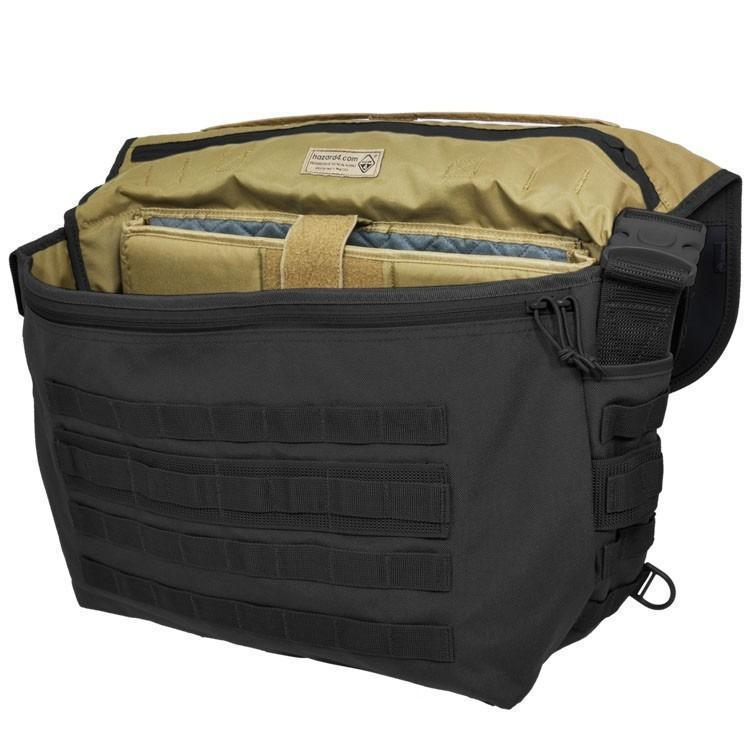 Hazard 4 Defense Courier Laptop Messenger Bag Black-Bags, Backpacks and Protective Cases-Tactical Gear Australia