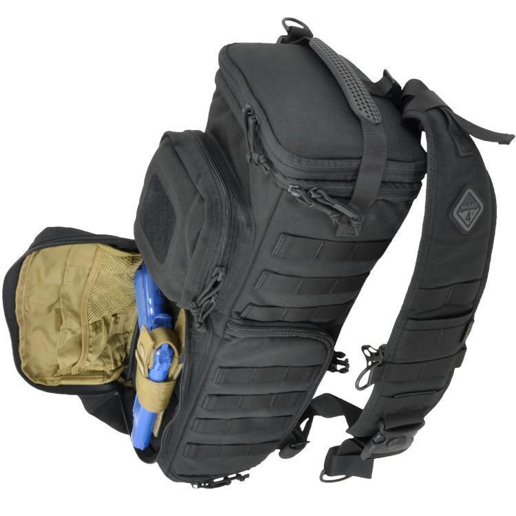 Hazard 4 Evac Photo Recon Tactical Optics Sling Pack Black-Bags, Backpacks and Protective Cases-Tactical Gear Australia