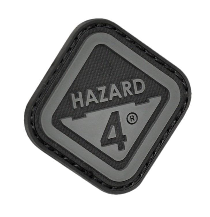 Hazard 4 Morale Patch Diamond Shaped Logo Black-Accessories-Tactical Gear Australia