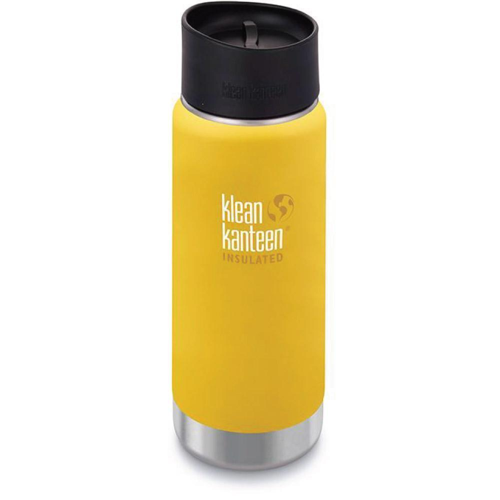 Klean Kanteen 16oz Wide Insulated Cafe Cap 2.0 Lemon Curry Tactical Gear Australia Supplier Distributor Dealer