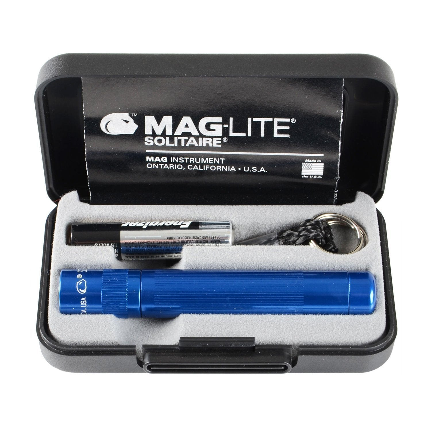 Maglite Solitaire AAA Keychain Light in Presentation Box - Blue-Flashlights and Lighting-Tactical Gear Australia
