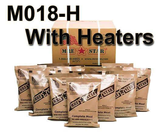 MRE Star Meals Ready to Eat Standard Variety 12 Pack with Heaters Tactical Gear Australia Supplier Distributor Dealer