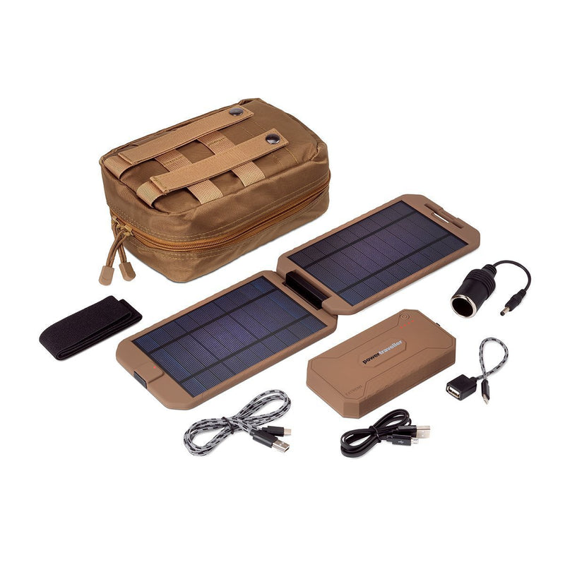 Powertraveller Tactical Extreme Solar Power Kit Coyote Tan-Outdoor and Survival Products-Tactical Gear Australia