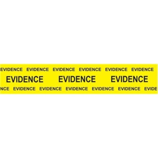 "Sirchie Box Sealing Evidence Tape, Black Printed on Yellow, 2"" x 165' Tactical Gear Australia Supplier Distributor Dealer"