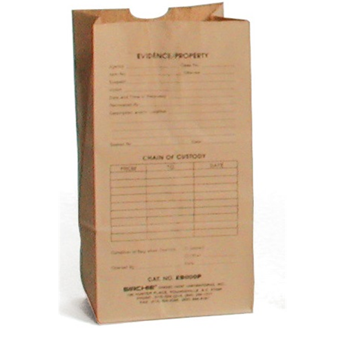 Sirchie Kraft Paper Evidence Bags Printed Various Sizes 100 Pack Tactical Gear Australia Supplier Distributor Dealer