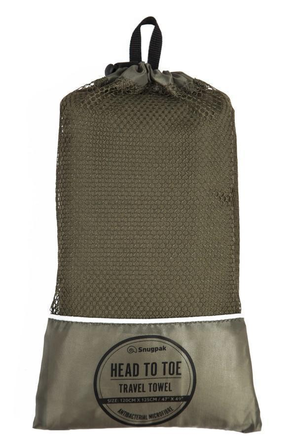 Snugpak - Travel Towel - Head to Toe - Olive-Outdoor and Survival Products-Tactical Gear Australia
