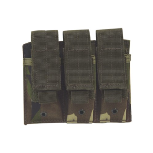Voodoo Tactical Triple Pistol Mag Pouch - OD GreenWoodland Camo-Duty Gear-Tactical Gear Australia