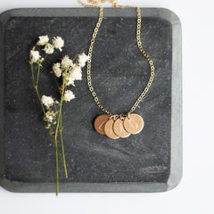 Known Necklace great for moms on Mother's Day with child's initials