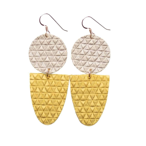Illuminating Yellow Drew Earrings