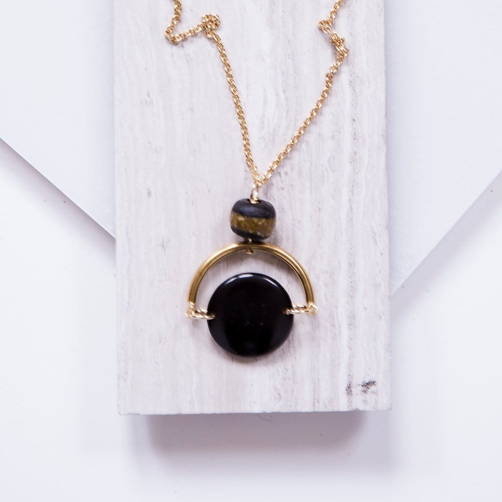 The Selma Necklace - Black