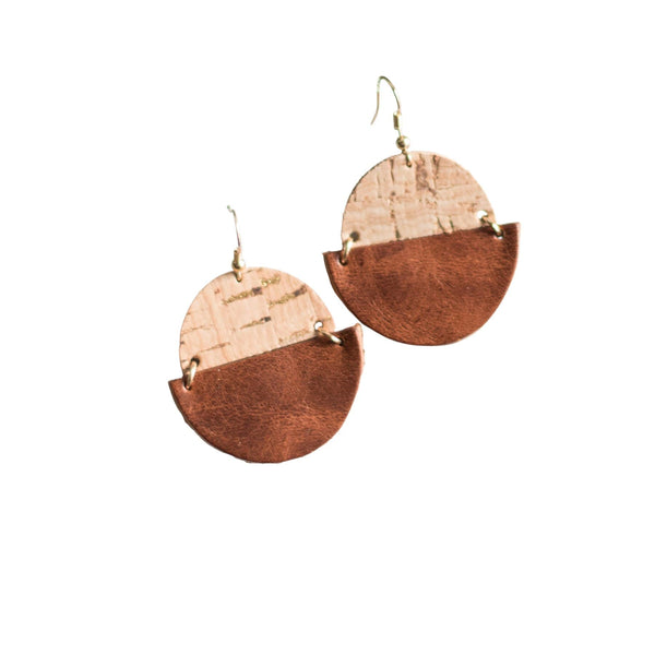 Cognac Claire Earrings