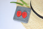 The Emily Tagua Earrings in Red