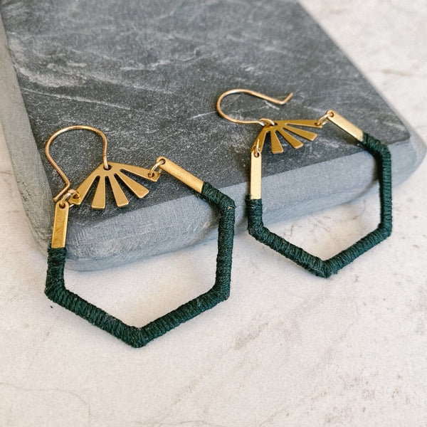 Forest Green Sloane Earrings