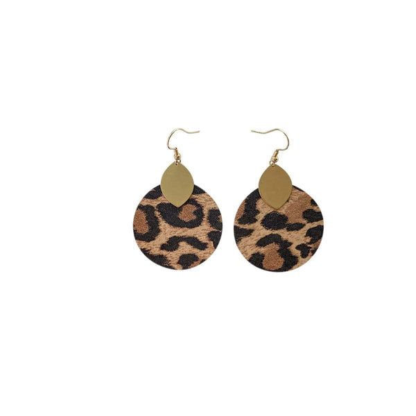 Leopard Macy Earrings
