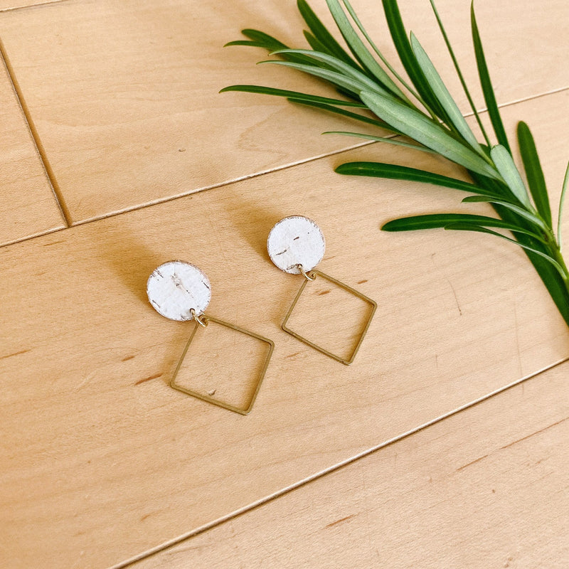 White Birch Lara Earrings