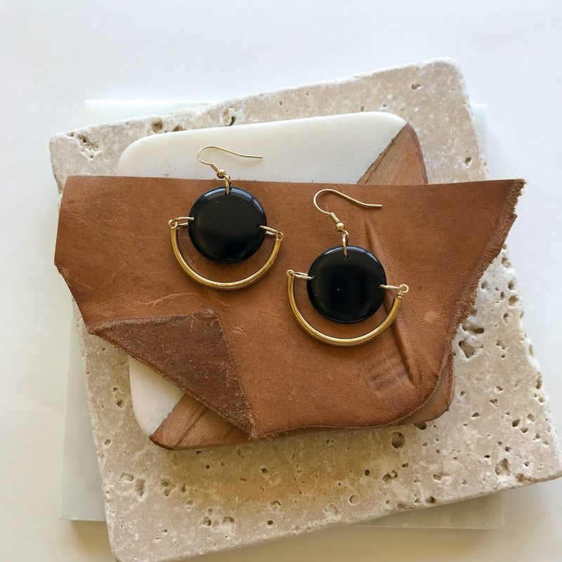 Black Dylan Earrings