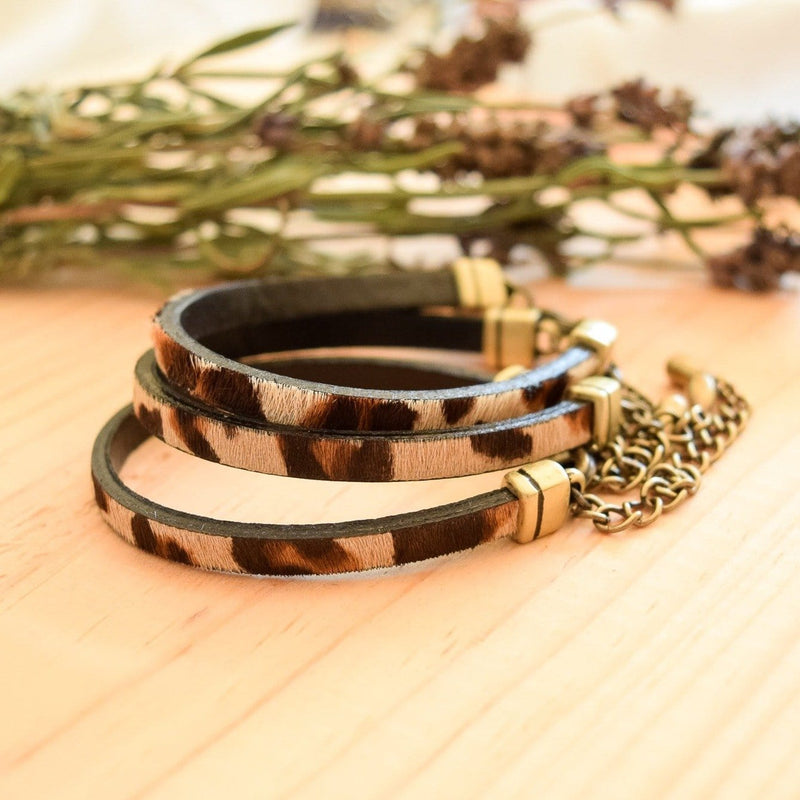 Leopard Lexi Leather Bracelet