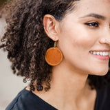 Cognac Wren Earrings