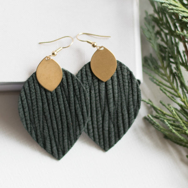 Forest Green Cora Earrings