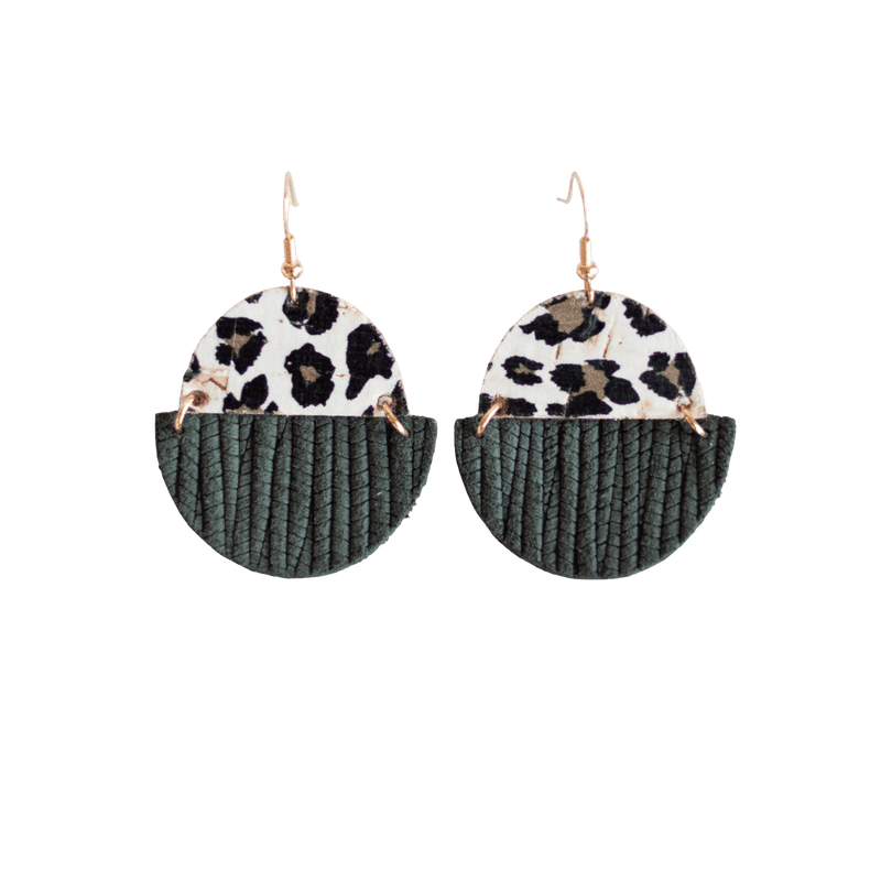 Forest Green Claire Earrings