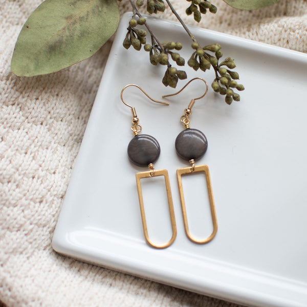 Gray Kara Earrings