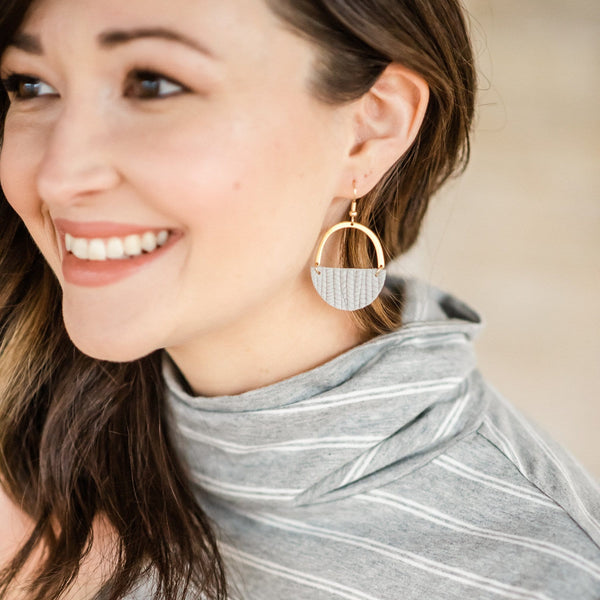 Gray Skies Jo Earrings