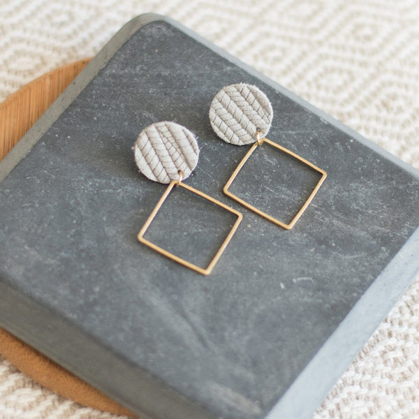 Gray Skies Lara Earrings