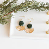 Forest Green Vera Earrings