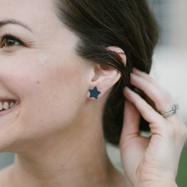 Star Leather Studs