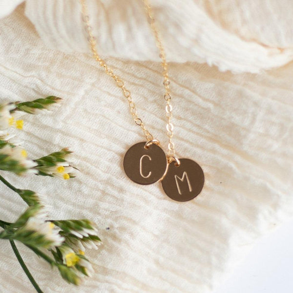 custom initial necklace for moms sela designs